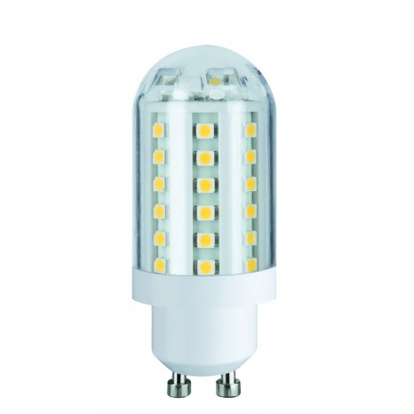 LED HV-Stiftsockel 3W 60 LEDs GU10 230V Warmweiß