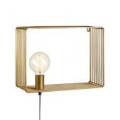 Shelf Breite 38 cm gold 1-flammmig viereckig