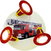 Feuerwehrauto Ø 30 cm bunt 3-flammig rund