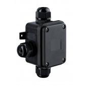 Verbindungsbox Höhe 13,4 cm schwarz 3-fach eckig
