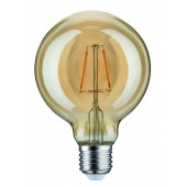 LED Globe 95, E27, 2,5W, 1700K, gold