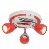 Racing, LED, 50W, schwenkbar, rot