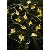 Stjärna Länge 220 cm transparent 20-flammig eckig