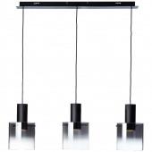 Beth Höhe 120 cm schwarz 3-flammig rund