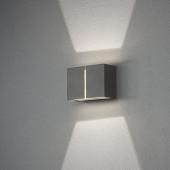 Pavia Breite 16,5 cm grau 2-flammig quaderförmig