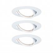 Base Ø 9 cm weiß rund schwenkbar GU10 3er-Set 3-Stufen-dimmbar