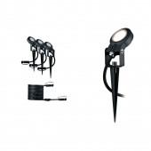 Outdoor Plug & Shine Spot Sting 3er-Set anthrazit 1-flammig rund