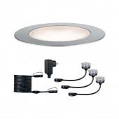 Plug & Shine Basisset Floor Eco Ø 7 cm silber 1-flammig 3er-Set 3000K