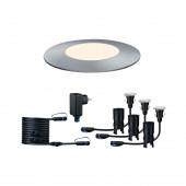 Plug & Shine Floor Mini Ø 5,5 cm silber 1-flammig 3000K 3er-Set