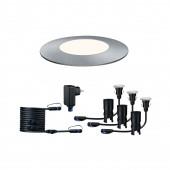Plug & Shine Floor Mini Ø 5,5 cm silber 4000K 3er-Set