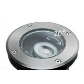 Plug & Shine Ø 14 cm silber 1-flammig rund 38° 6W 4000K