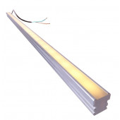 LED Bar / Tube Länge 100 cm metallisch 1-flammig rechteckig