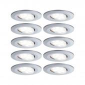 Calla 10er-Set 6,5 W Ø 9 cm metallisch 1-flammig rund