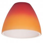 Ersatzglas zu Antwerpen Höhe 6,5 cm rot-orange rund