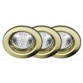 Classic EBL 3er-Set Ø 8 cm gold 1-flammig rund