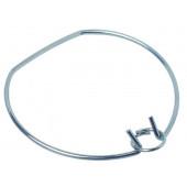 Sprengring mit flacher Seite für EBL Ø 3,5 cm metallisch rund