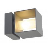 Square Turn 12 x 12 cm grau 2-flammig würfelförmig