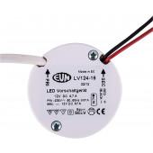 LED Vorschaltgerät 0,1-5W schwarz rund
