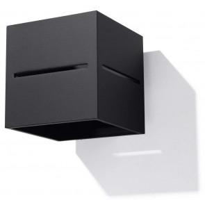 Lobo Höhe 12 cm schwarz 2-flammig quadratisch