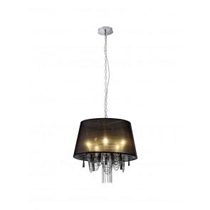 Chiara Höhe 150 cm Ø 50 cm schwarz 5-flammig