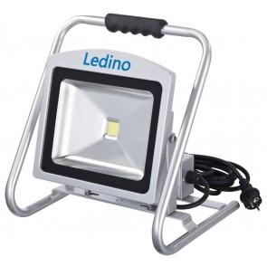 LED-Strahler m. Steckd. Dahlem50SCD, 50W, 6500K, silb.