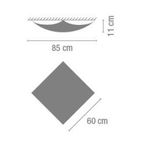 Quadra Ice 1133, 60 x 60 x 11 cm, Halogen