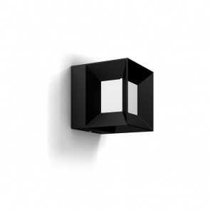 Parterre, 13x13 cm, schwarz/weiß