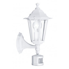 Laterna 5, Höhe 42,5 cm, IP44, Sensor, weiß