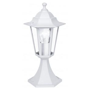 Laterna 5 Höhe 38,5 cm weiß 1-flammig eckig