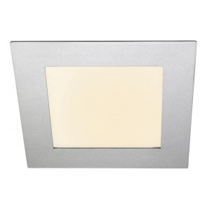 LED Panel, 20 x 20 cm, 11W, dimmbar, warmweiß, silber