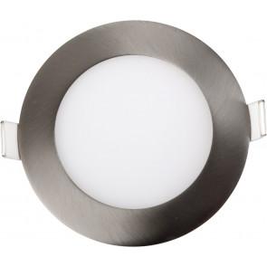 LED, 9W, rund, satin, nickel, einstellbar