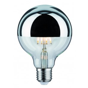 LED Globe 95 5W E27 230V Kopfspiegel Silber 2700K