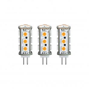 LED 3er-Pack Stiftsockel 2,5W G4 12V 2700K