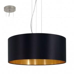 Maserlo, Ø 53 cm, schwarz-gold