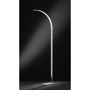 Luz, Höhe 165 cm, 3-Stufen-Dimmer, inkl LED, nickel matt
