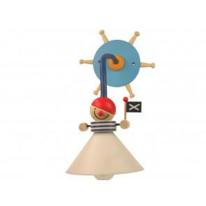 Pirat, E14, schwenkbar, mit Schalter, blau