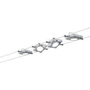 Smart Wire System BLE MacLED 4x4W Chrom matt 230V/12VA DC 36VA Tunable Whi
