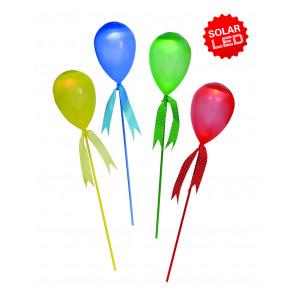 LED Deko-Solar Ballon 4er Set Höhe 63 cm bunt 1-flammig tropfenförmig