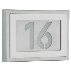 Hausnummernleuchte, Edelstahl, 18 x 25 cm