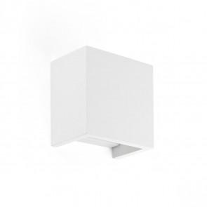 Oslo Höhe 12,5 cm weiß 2-flammig eckig