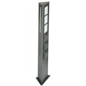 Lichtsäule, Höhe 80 cm, 2 Steckdosen, IP44, Edelstahl