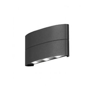 Chieri, LED, IP54, Breite 18,5 cm, anthrazit