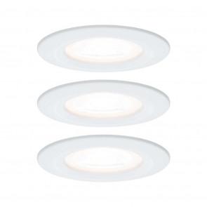 Nova Ø 7,8 cm weiß-matt rund starr 3er-Set