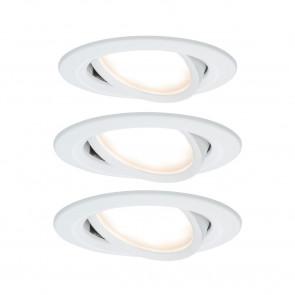 Nova Coin 3er-Set Ø 8,4 cm weiß 1-flammig rund
