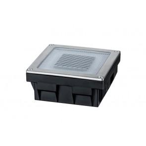 Solar Cube, LED, 10 x 10 cm, Edelstahl