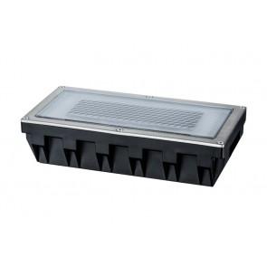 Solar Cube, LED, 20 x 10 cm, Edelstahl
