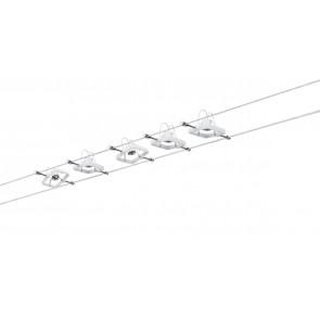 WireSystem Set MacII, max 5x10W GU5.3 Weiß 230/12V 60VA Metall