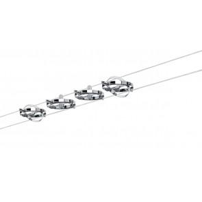 WireSystem Cardan, max 4x10W GU5.3 Chrom matt/Chrom 230/12V 80VA Metall
