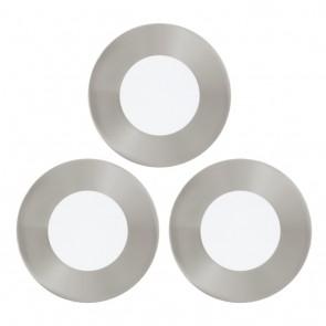 Fueva 1, 3er-Set, LED, Ø 8,5 cm, nickel-matt