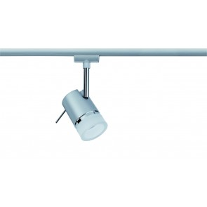 URail System LED Spot Pipe 1x3,5W GU10 Chrom matt/Chrom 230V Metall